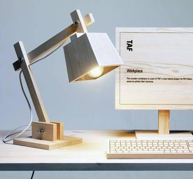 Настольная лампа из дерева своими руками 136