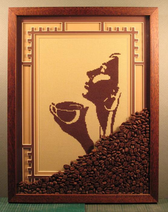 Своими руками картины из кофе