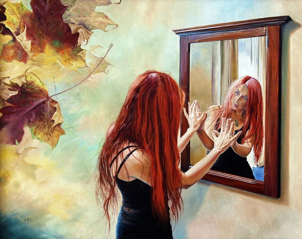 Фото голых девочек в зеркале 20 фотография