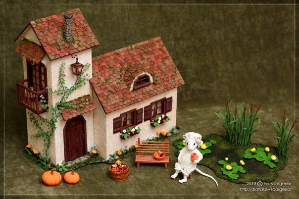 Декоративные домики из картона