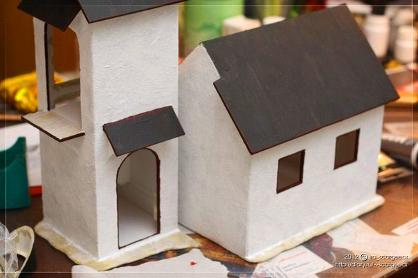 Красивый домик из картона своими руками - interesno-vse.ru