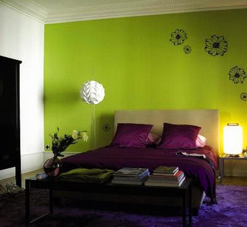 Сочетание салатового с фиолетовым в интерьере фото